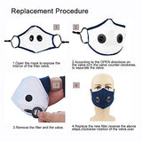 Custom Black Mouth Mask Dust Mast Cover Anti-dust Cotton Face Mask For Men And Women