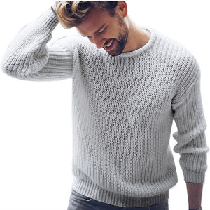 Mens Fashion Cotton Sweater Pullover Casual Jumper For Male  Knitted Korean Style Clothes Plus Size Sweaters
