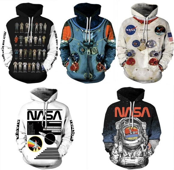 3D Printed Armstrong Spacesuit Hoodie Women Men Sweatshirt Hoodies Cosplay Astronaut Funny Sweater Sports Pullover Hoody