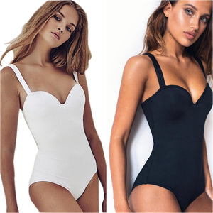 2020 women Swimwear Sexy high cut one piece swimsuit Backless swim suit Black White Red thong Bathing suit female Monokini