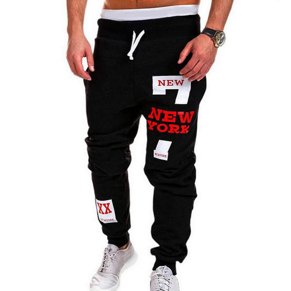 Mens Casual Pants  Letter Print Sweatpants 2020 New Male Lace-up Loose Hip  Trousers Joggers Track Cotton Pants