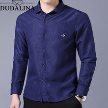 Load image into Gallery viewer, Dudalina Shirt Male Geometric Casual Brand Clothes Men Shirt 2020 Long Sleeve Formal Business Man Shirt Slim Fit Designer Dress