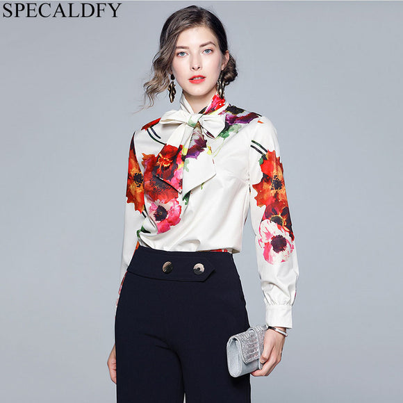 Autumn Blouses Women Long Sleeve Print Shirts Blouse Designer Runway Tops 2020 Women High Quality Fashion Ladies Office Shirt