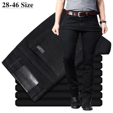 Load image into Gallery viewer, Men's Classic Black Jeans Elastic Slim Fit Denim Jean Trousers Male Plus Size 40 42 44 46 Business Casual Pants Brand