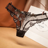 top Peony Lace Women's Underwear Transparent Panties Ladies' Seamless Underpant Low Waist Thong Sexy Lingerie for Women