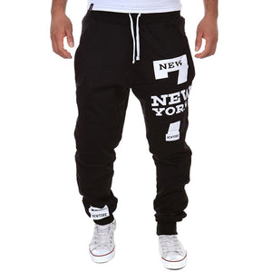 Men Hip Hop Streetwear Men's Splice Joggers Pants Fashion Men Casual Cargo Pant Trousers High Street Elastic Waist Harem Pant