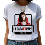 Money Heist The House of Paper Womens Tshirts La Casa De Papel Harajuku T Shirt Women Summer Bella Ciao T-shirts Female Top Tees