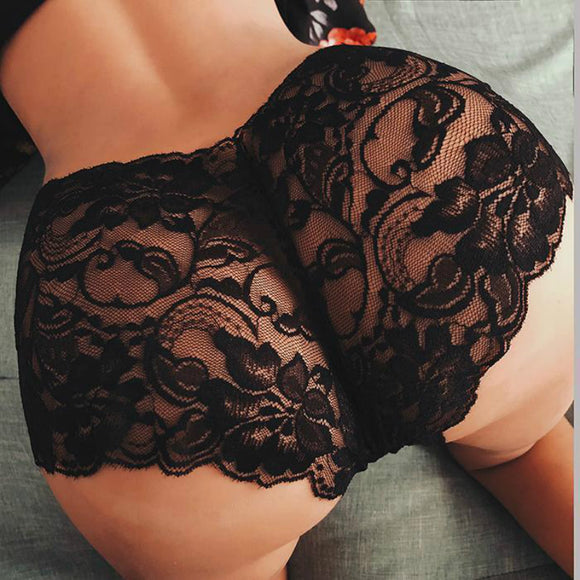 Big Plus Size S-5XL Hot Fashion Women Sexy Lace Panties Cotton Breathable High Quality Low Waist Underwear Female Intimates New