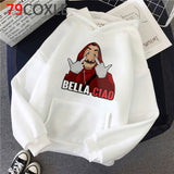La Casa De Papel Hoodies Men Money Heist Funny Cartoon Graphic Hooded House of Paper Kawaii Bella Ciao Top Sweatshirt Male