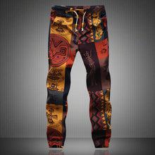 Load image into Gallery viewer, 2020 New Fashion Summer Spring Autumn Men Floral Print Joggers Male Casual Summer Pants Mens Sweatpants Linen Pants Men Trouser