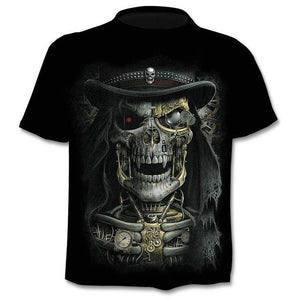 2020 New Design t shirt men/women heavy metal grim Reaper Skull 3D printed t-shirts casual Harajuku style tshirt streetwear tops