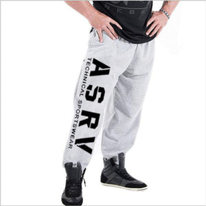 muscle men's Sweatpants fitness training joggers casual Autumn cotton Sweatpants Fashion streetwear pants men Elastic waistband