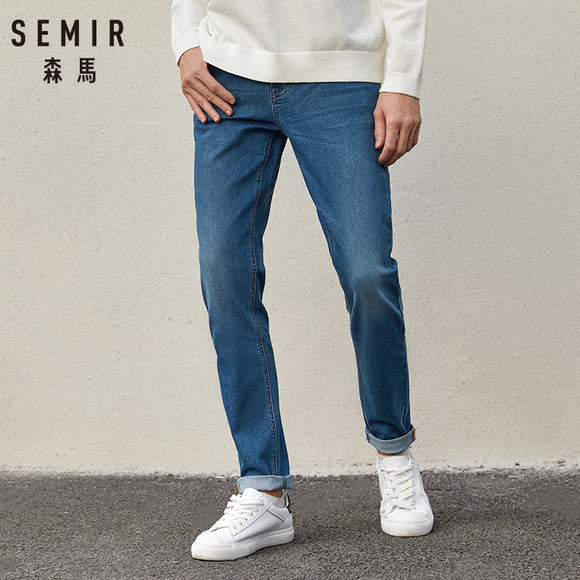 SEMIR Jeans Men 2020 Spring Autumn New Korean cotton Slim Pants Men's Retro Youth soft casual jeans Cotton for male