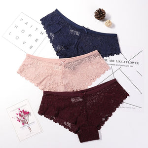 Sexy Lace Panties Women Fashion Cozy Lingerie Tempting Briefs High Quality Women's Underpant Low Waist Intimates Underwear