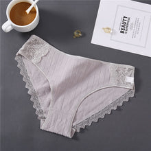 Load image into Gallery viewer, New Sexy Lace Panties For Women Girls Underwear Cotton Panty 2019 Soild Elasticity Comfortable Low-Rise Lingerie Panties M L XL
