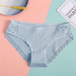 New Sexy Lace Panties For Women Girls Underwear Cotton Panty 2019 Soild Elasticity Comfortable Low-Rise Lingerie Panties M L XL