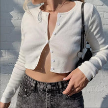Load image into Gallery viewer, Womens Knotted Tie Front Bolero Shrug Long Sleeve Crop Top Knit Sweater Cardigan Black 2019 Autumn Mujer Warm Soft Sweater Tops