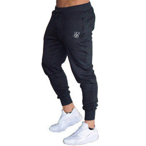 Men's High quality Brand pants Fitness Casual Elastic Pants bodybuilding clothing casual sik silk  sweatpants joggers pants