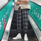 LAPPSTER-Youth Streetwear Yellow Plaid Pants Men Joggers 2020 Mens Straight Harem Pants Men Korean Hip Hop Trousers Plus Size