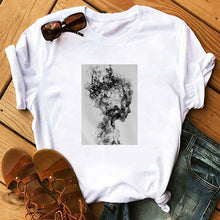 Load image into Gallery viewer, Tops Tshirt Modernist Sexy Lady Feather Butterfly T-shirt Women Plus Size Top Tees Clothes Korean Style Aesthetic Short Sleeve