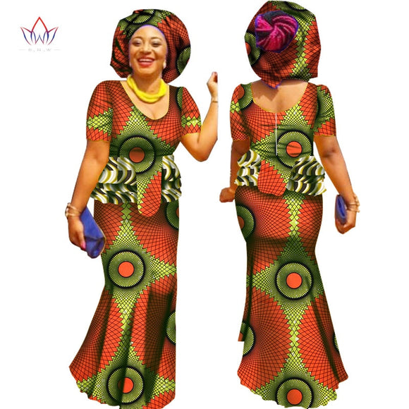 Women Summer Work Skirt Set African Style