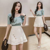 Summer high waist was thin A-shaped Solid color Mermaid skirt fashion design irregular half-length skirt female femme jupes