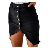 2020 Summer New Women's Fashion Denim Skirt Summer Button Design Split Front Open Skirts Trendy Sexy Tight Skirt #YL10