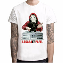 Load image into Gallery viewer, Funny Design La Casa De Papel T Shirt Money Heist Tees TV Series Tshirts Men Short Sleeve House of Paper T-Shirt