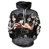 2020 new 3D printed men's casual rock Street funny T-shirt kissing band hip hop men's simple and versatile sweater s-6xl
