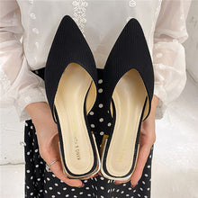 Load image into Gallery viewer, Shoes Woman 2020 Slippers Women Summer Luxury Slides Heeled Mules Shallow Pantofle Cover Toe Med Designer Heels New Flat Basic