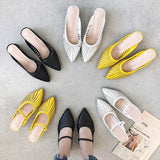 2020 Summer New Designer Slippers Women Mules Shoes Fashion Sandals Stripe Slides Ladies Mules Female Luxury Slippers Thick Heel