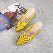 Load image into Gallery viewer, 2020 Summer New Designer Slippers Women Mules Shoes Fashion Sandals Stripe Slides Ladies Mules Female Luxury Slippers Thick Heel