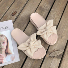Load image into Gallery viewer, Med Butterfly-knot House Slippers Platform Female Shoes Luxury Slides Shose Women 2020 Flat Soft Designer Summer Fashion PU