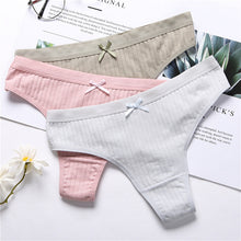 Load image into Gallery viewer, Women Panties Secret G-String Underwear Fashion Thong Sexy Cotton Panties Ladies G-string Soft Lingerie Low Rise Panty M-XL NEW