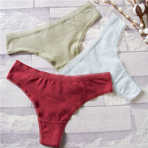 Women Panties Secret G-String Underwear Fashion Thong Sexy Cotton Panties Ladies G-string Soft Lingerie Low Rise Panty M-XL NEW