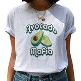 Kawaii T-shirt Women Cartoon Avocado Graphic T Shirt Short Sleeve Casual O Neck Tops Female Tee Tshirt Summer Harajuku T-shirt