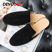 Load image into Gallery viewer, Summer Leather Slippers Men Shoes PU Loafers Designer Mules Fashion Beach Shoes Slides Home Slippers Zapatos Hombre Plus Size 44