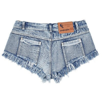 DANJEANER 2019 New Fashion Sexy Shorts Women Jeans Super Mini Rock Denim Booty Hot Shorts Casual Vintage Ladies Club Party Short
