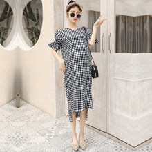 Load image into Gallery viewer, Summer New Design Maternity Dress Retro Backless Plaid