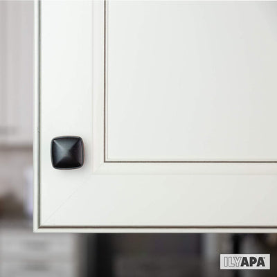 Oil Rubbed Bronze Square Kitchen Cabinet Knobs - 10 Pack of Drawer Handles Hardware