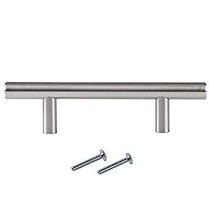 Satin Nickel Kitchen Cabinet Handles - 3.75 Inch Hole Center Bar Pulls - 25 Pack of Kitchen Cabinet Hardware