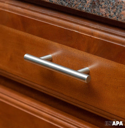Satin Nickel Kitchen Cabinet Pulls - 3 Inch Hole Center Bar - 5 Pack of Kitchen Cabinet Hardware