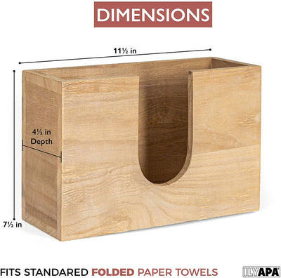 Barnwood Paper Towel Dispenser - Rustic Farmhouse Wood Multifold Hand Towel Holder