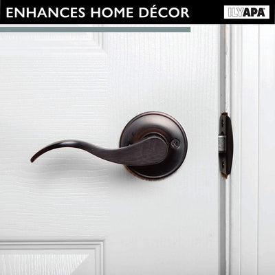 Interior Passage Lever - Keyless Hall and Closet Lockset, Reversible - Oil Rubbed Bronze Finish