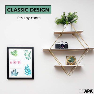 Ilyapa Picture Frames - Wood Photo Frame Set with Glass Fronts for Wall or Desk - Multiple Sizes, Styles, Colors to Choose from
