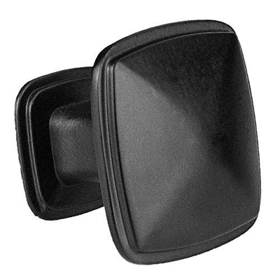 Black Square Kitchen Cabinet Knobs - 25 Pack of Drawer Handles Hardware