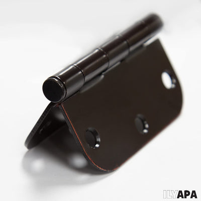 "18 Pack of Door Hinges Oil Rubbed Bronze - 4x4 Inch Interior Hinges for Doors with 5/8"" Radius Corners"