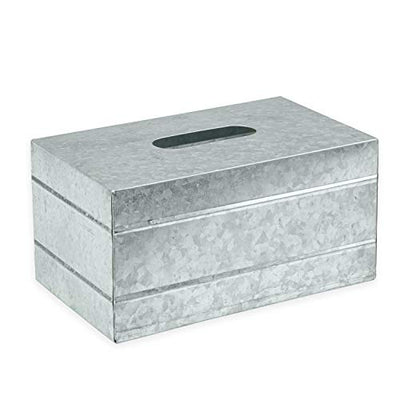 Ilyapa Tissue Box Cover Rectangular - Rustic Galvanized Metal Tissue Box Holder