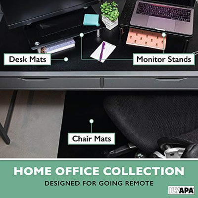 Office Desk Mat Clear Textured - 36 x 20 Inch Plastic Computer Pad for Desk