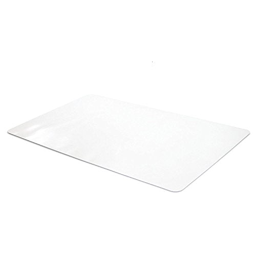 Office Desk Mat Clear Textured - 28 x 18 Inch Plastic Computer Pad for Desk